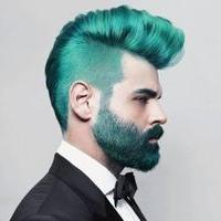 Bart färben